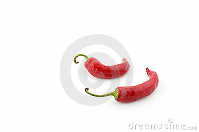 Pair of red peppers (cayenne)