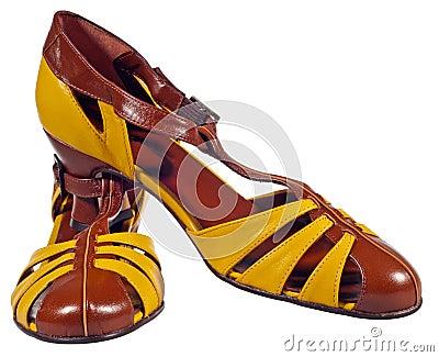 Pair of retro shoes