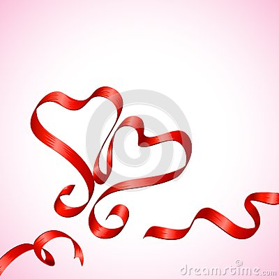 Pair of Ribbon Heart