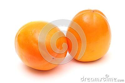 Pair of ripe persimmons