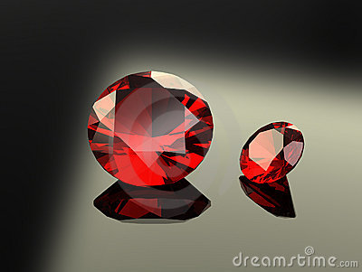 Pair of Round Ruby Gems