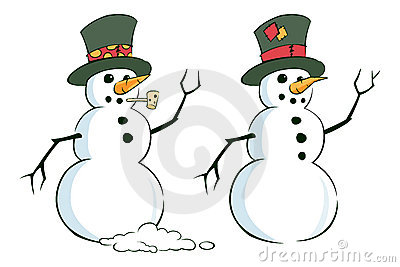 Pair of Snowmen