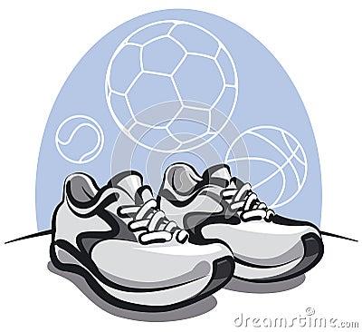Pair of sport sneakers