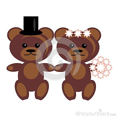 Pair of teddy bears