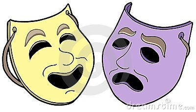 Pair of theatre masks