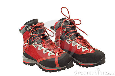 The pair of treking boots