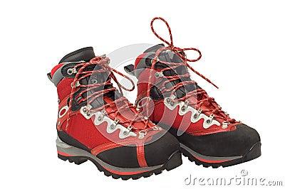 The pair of treking boots