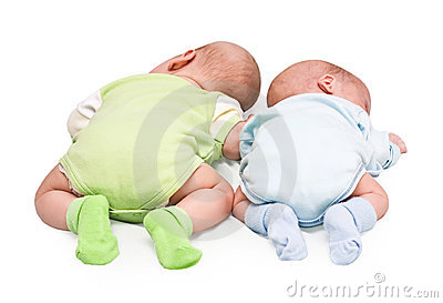 Stock Photo: Pair of twins