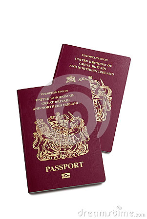 A pair of UK British passports