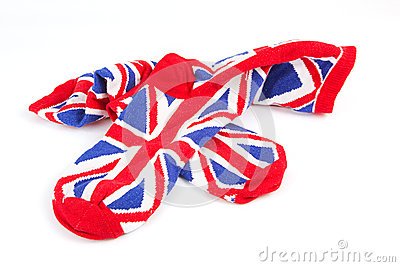 Pair of union jack socks