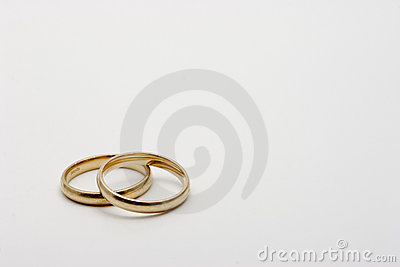 A pair of wedding rings bands