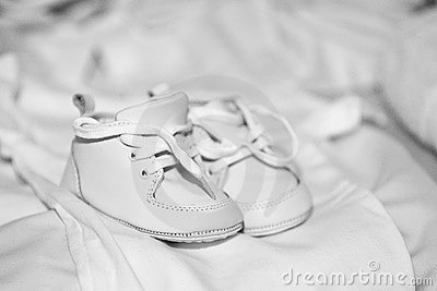 Baby Shoes And Blanket Stock Photography - Image: 17347702