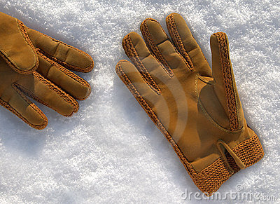Pair of winter sheepskin gloves