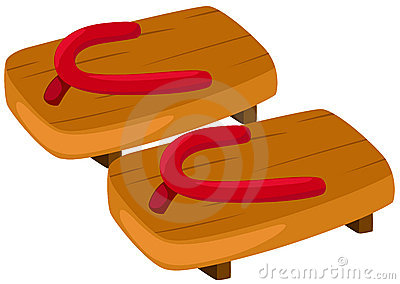 Pair of wooden clog