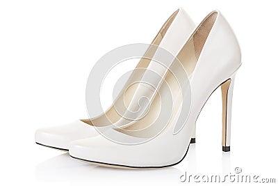 Chaussure A Talon Blanche