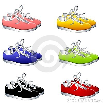 Pairs of Colourful Sneakers