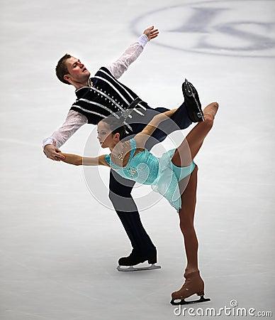 Pairs-Free Skating performance Editorial Photography