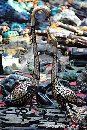 Pairs of metal goose
