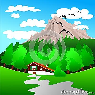 Paisagem da montanha