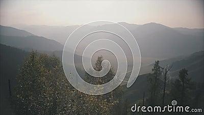 Paisagem da montanha em Altai vídeos de arquivo