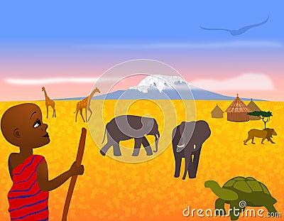 Paisagem de África