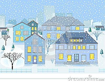Paisagem do inverno na vizinhança
