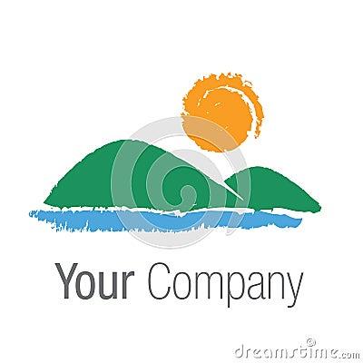Paisagem do logotipo
