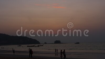 Paisagem solar em Phuket filme