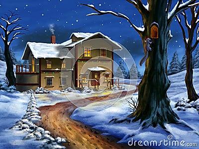 Paisaje de la Navidad