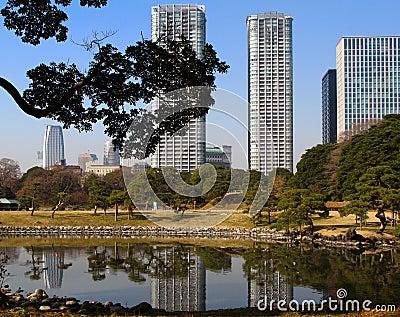 Paisaje de Tokio, Japón