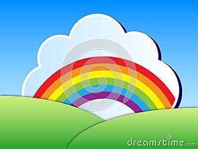 Paisaje del arco iris