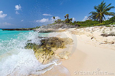 Paisaje del Caribe idílico