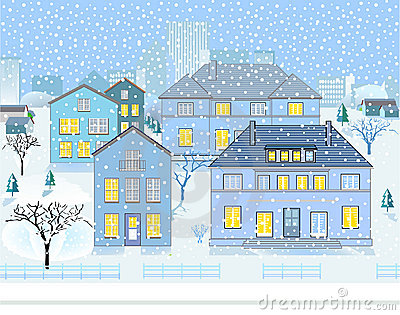 Paisaje del invierno en vecindad