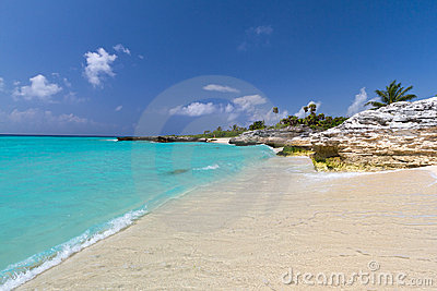 Paisaje del mar del Caribe