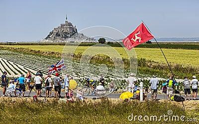 Paisaje del Tour de France Imagen de archivo editorial