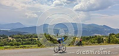 Paisaje del Tour de France Foto de archivo editorial