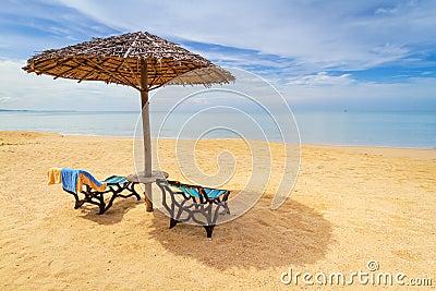 Paisaje tropical de la playa