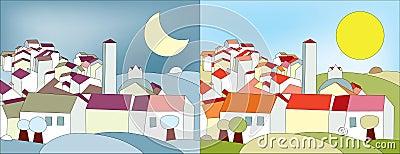 Paisajes del día y de la noche
