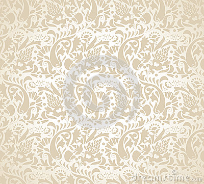 Paisley Background For Wedding Card Cartoon Vector