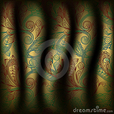 paisley curtain background
