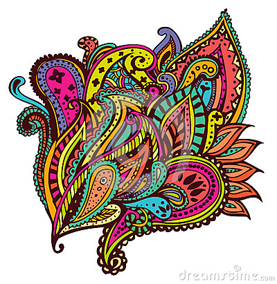 Free Paisley Design Stock Photography - 33302952
