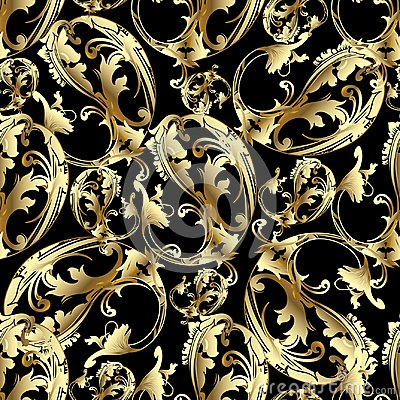 Free Paisley Flowers In Baroque Style Royalty Free Stock Image - 106766506