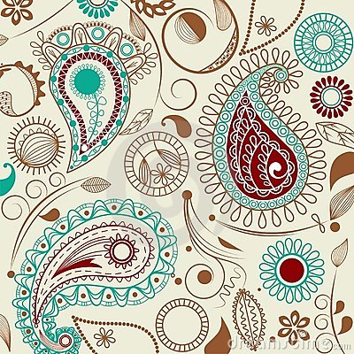 Free Paisley Pattern In Retro Style Royalty Free Stock Images - 14642209