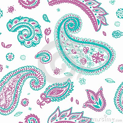 Free Paisley Pattern Of Indian Floral Vector Ornament Royalty Free Stock Image - 117649176