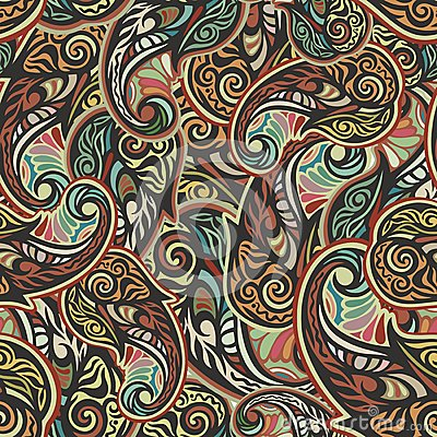 Free Paisley Seamless Pattern Stock Images - 32445784