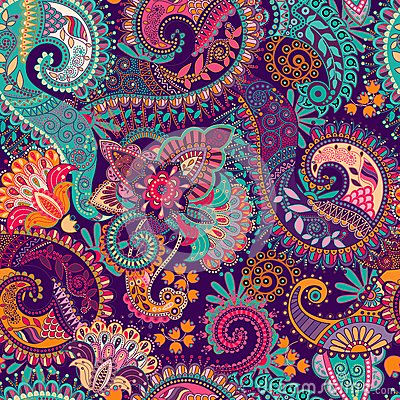 Free Paisley Seamless Pattern Royalty Free Stock Photography - 51791207