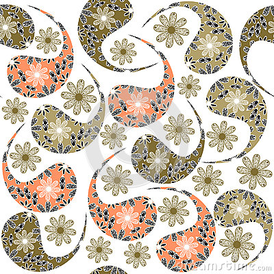 Paisley seamless pattern and seamless pattern in s