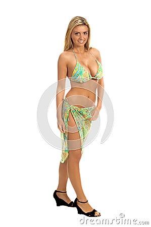 Paisley Sequin Bikini Blonde