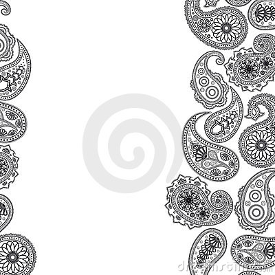 Paisley surface.