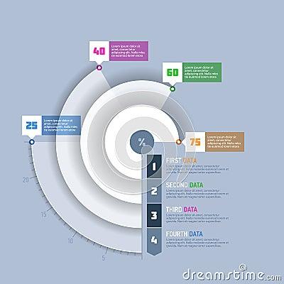 Pajdiagram, beståndsdel för infographics för cirkelgraf